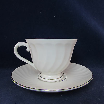 SET OF TWO - Syracuse China WEDDING RING Cup & Saucer Sets