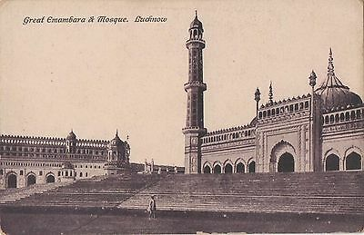 POSTCARD  INDIA  LUCKNOW  The  Mosque