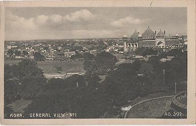 POSTCARD  INDIA  AGRA  General View