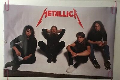Metallica Original Vintage Poster 1990 Brockum Metal Music Memorabilia pin-up
