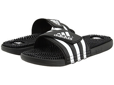 Adidas Adissage Black Slides Shower Athletic Sport Sandals 078260 Men's Sz 7-13