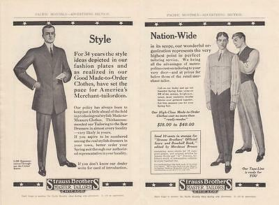 1911 Strauss Brothers Tailors Chicago IL Ad: High Class Made-to-Order Clothes