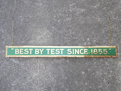 Early Old General Store Best By Test Metal Celuloid Display Sign Vintage Antique