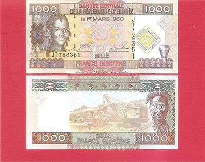GUINEA  p43 - 1000 franc - 2010 Commemorative Uncirculated