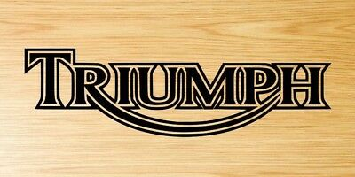 2x Triumph motorcycle motorbike decal sticker logo Black Only.