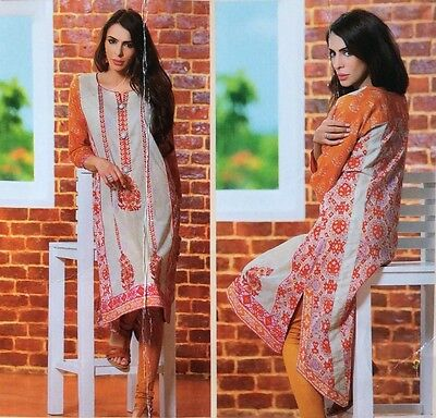 "Indian Pakistani Printed & Embroidered Kurti Tunic Bust-37"" S/M Lawn Party Wear"