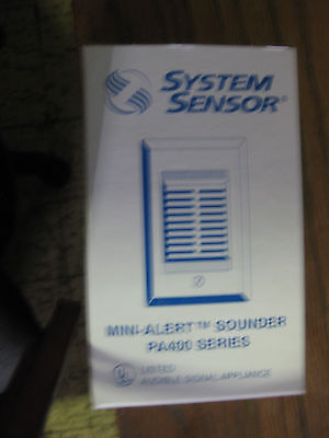 System Sensor mini-alert sounder PA400 Series