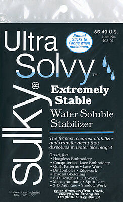 "Ultra Solvy Water-Soluble Stabilizer-19.5""X36"""