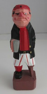 Hand Carved Wooden Folk Art Pirate                   (Inv10332)
