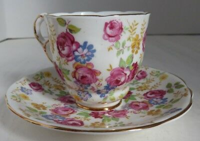 Royal Stafford June Roses Tea Cup And Saucer                (Inv12464)