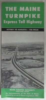 1960 Maine Turnpike Express Toll Highway Map                  (Inv12705)