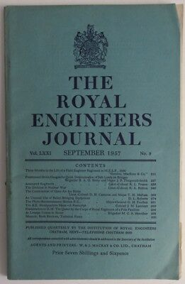 1957 Royal Engineers Journal - September With Supplement (Inv1264)