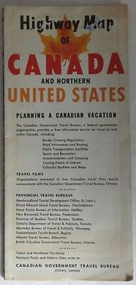 1957 Canada And Northern United States Travel Map                     (Inv12716)