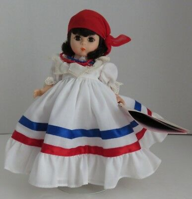 "1986 Madame Alexander 7"" Dominican Republic Doll W/ Stand          (Inv11618)"