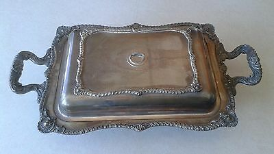 Beautiful Vintage W&s Blackinton Silver Plated Covered Footed Serving Dish