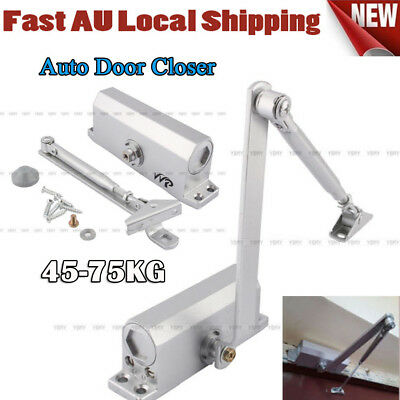 AU Stock Adjustable Auto Door Closer Fire Rated 60~80KG Suits Inward & Outward H