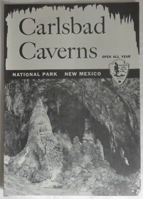 1958 Carlsbad Caverns National Park New Mexico Brochure               (Inv13170)