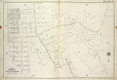 1917 RICHMOND RANDALL MANOR STATEN ISLAND NEW YORK SAILORS SNUG HARBOR ATLAS MAP