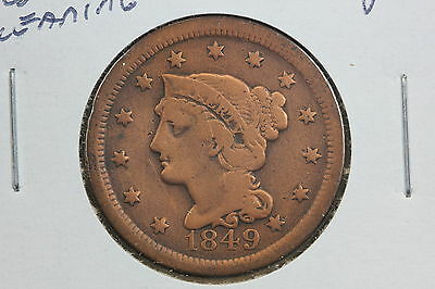 1849 Large Cent G Old Cleaning