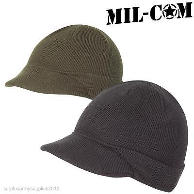 Mil-Com Us Army Jeep Hat Ww2 Mash Repro Military Mens Beanie Black Olive Green