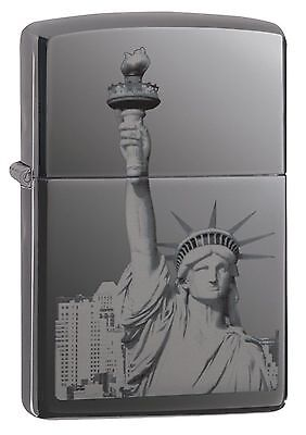 Zippo Windproof Lighter With Statue Of Liberty, 29437, New In Box