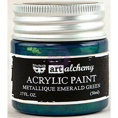 Finnabair Art Alchemy Acrylic Paint 1.7 Fluid Ounces-Metallique Emerald Green