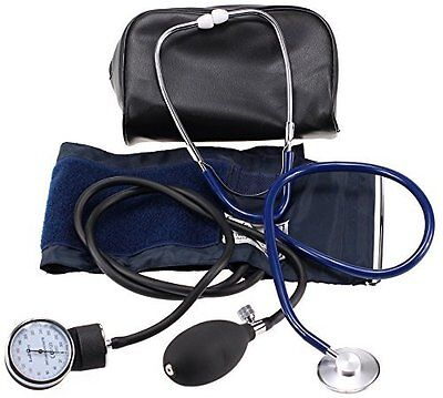 Manual Squeeze-Bulb Blood Pressure Monitor W/ Stethoscope & Zippered Case
