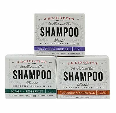 Old Fashioned Shampoo Bar for Shiny and Soft Hair 3.5 Ounces Variety 3 Pack