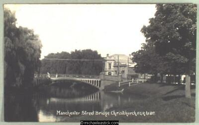 Manchester Bridge, Christchurch NZ - Real Photo Postcard