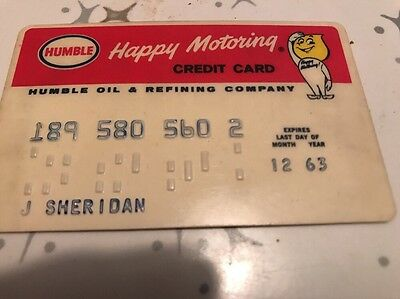 1963 HUMBLE OIL Credit Card Vintage