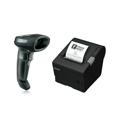POS Bundle 3- Zebra li2208 barcode scanner+epson tm-t88vi receipt printer usb...