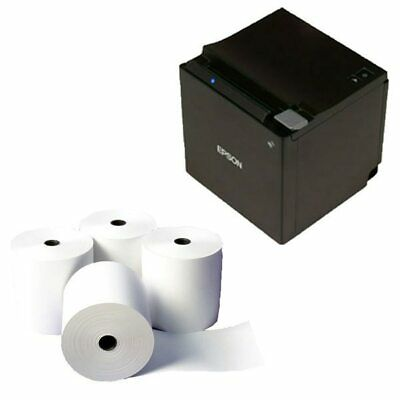 POS Bundle 5- Epson TM-M30 Printer Ethernet + 80mm X 80mm Receipt Rolls