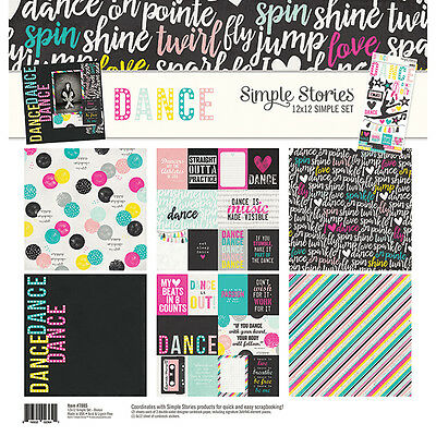 Simple Stories Dance (1) 12X12 Scrapbooking Collection Pack Kit