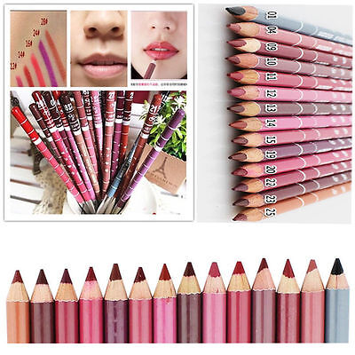 12 PCS /Lot Colors Professional Lipliner Waterproof Lip Liner Pencil 15CM Hot H