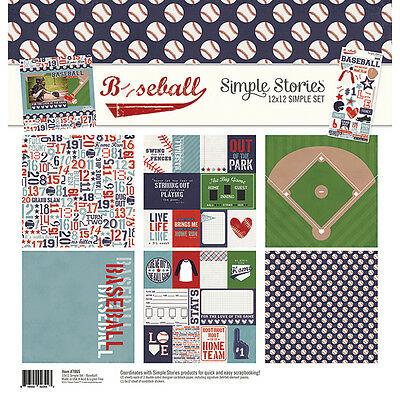 Simple Stories Baseball (1) 12X12 Scrapbooking Collection Pack Kit Sports