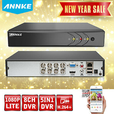 ANNKE 8CH 1080P Lite 5IN1 Security DVR Home CCTV Surveillance System H.264+ HDMI
