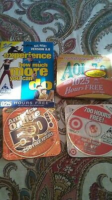 Lot of 4 Aol America Online Install Disc All New Sealed