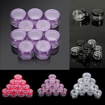 10x Cosmetic Empty Jar Pot Eyeshadow Makeup Face Cream Lip Balm Container Bottle