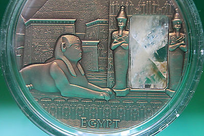 2015 Egypt Imperial Art Citrine Crystal 2 oz Antique Silver Coin $2 Niue COA box