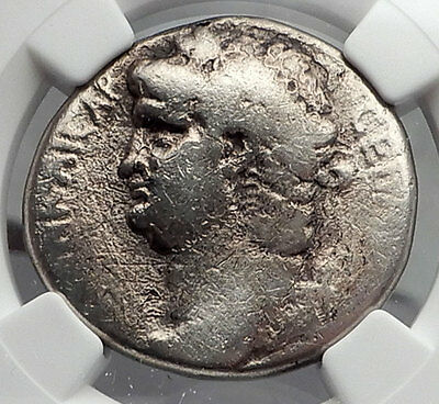 NERO 65AD Authentic Ancient Silver Tetradrachm Coin of Antioch Eagle NGC i60105
