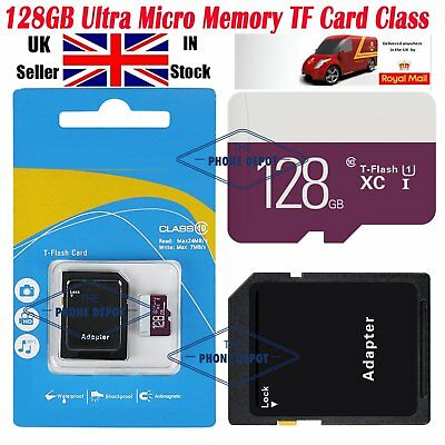 128GB Ultra Memory  SDHC TF Card Class 10 Camera/Phone/Tablets W/ADAPTER