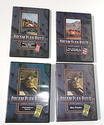 Lot of 4 DVD's, Dream Plan Build, Real rails, Great American layouts, etc.