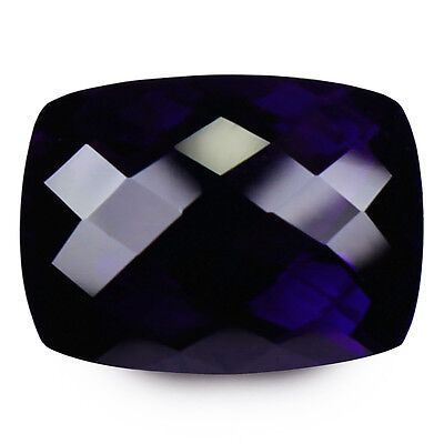 25.60ct LOUPE CLEAN NATURAL EARTH MINED AAA VIOLET BLUE AMETHYST BRAZIL REF VDO