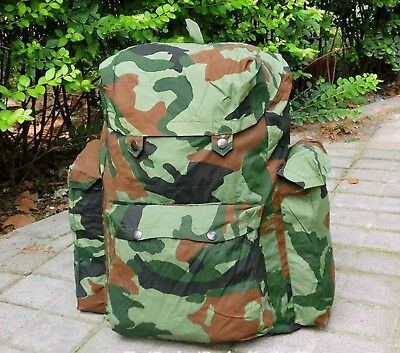 Surplus Chinese PLA Army Forest Camouflage Waterproof Field Pack Bag Backpack