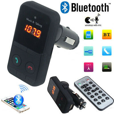 Wireless Bluetooth LCD FM Transmitter Modulator USB Car MP3 Player SD Remote H