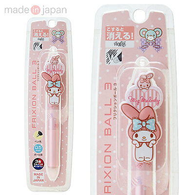 My Melody Erasable frixion ball-point pen 3colors 0.5mm JAPAN new