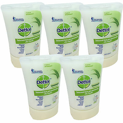 5 X Dettol No Touch Hand Wash Refills Aloe Vera Home Office 06/17