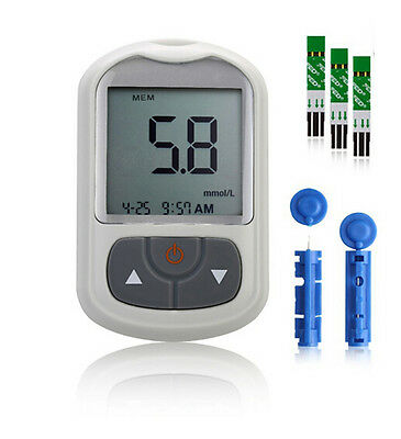 FED Blood Glucose Meter Tests Sugar Monitor Diabetic 50 Strips+50 twist lancets