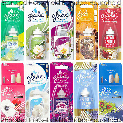 3 X Glade Sense And Spray Refills Automatic Air Freshener 8 Scents To Choose