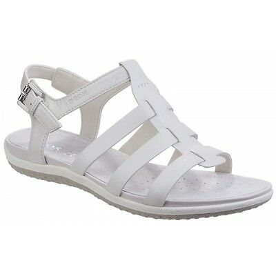 GEOX GEOX SAND VEGA Ladies Summer Strappy Buckle Comfort Sandals Shoes White